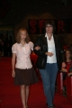 Jordan Anderson escorted by Art Teacher, Mrs. Chapman