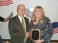 """Agriplex Flyer"" owner Becky Weatherford received the Business of the Year award for 2007"