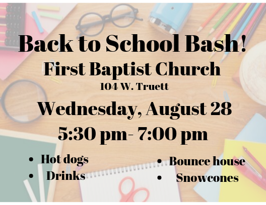 Back To School Bash -Winters