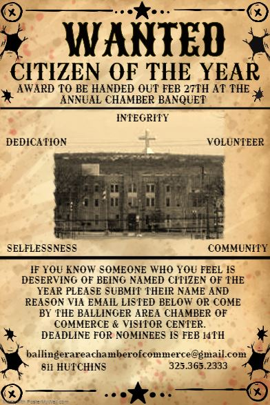 Citizen of the Year Flyer