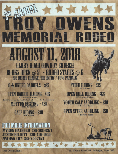 Cowboy Church Rodeo 2018
