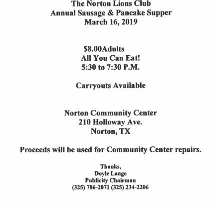 Norton Lions Club Pancake Supper