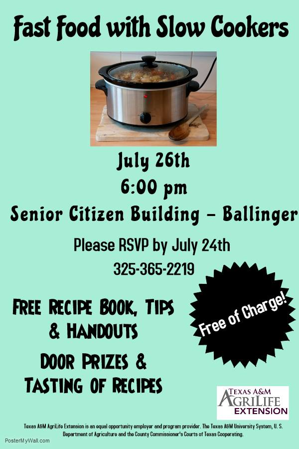 Runnels County 4-H Slow Cooker