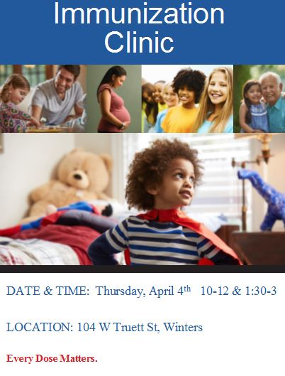 Winters April Immunization Clinic